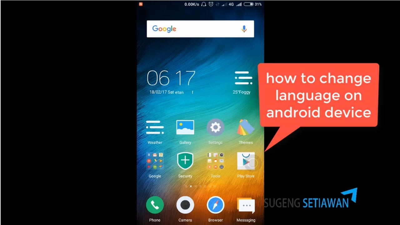How to change language in android phone