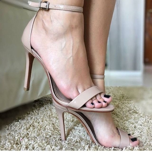 Sexy feet in high heels naked